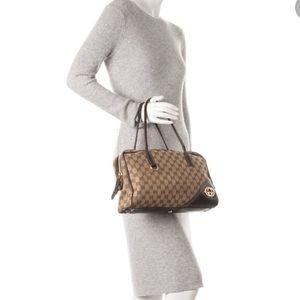 💯Auth Gucci Boston GG Britt medium Tote W/dustbag